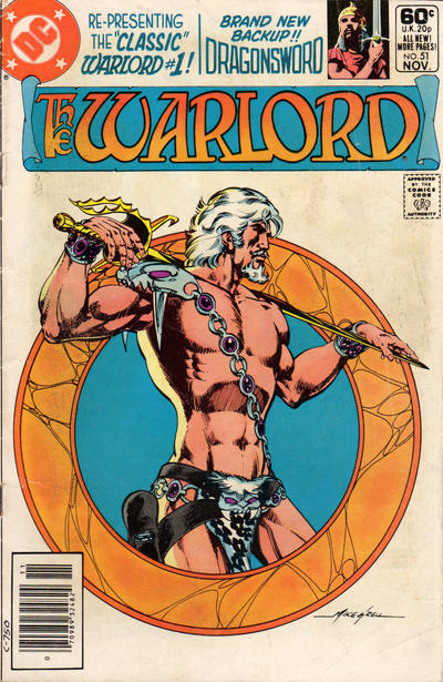 Cover for Warlord (DC, 1976 series) #51 [Newsstand]