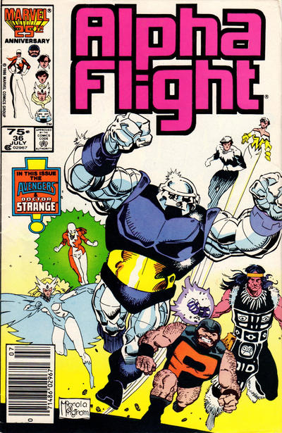 Cover for Alpha Flight (Marvel, 1983 series) #36 [Newsstand Edition]