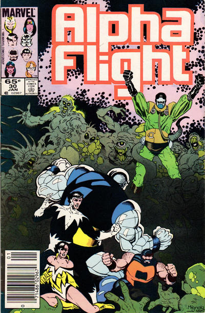 Cover for Alpha Flight (Marvel, 1983 series) #30 [Newsstand Edition]