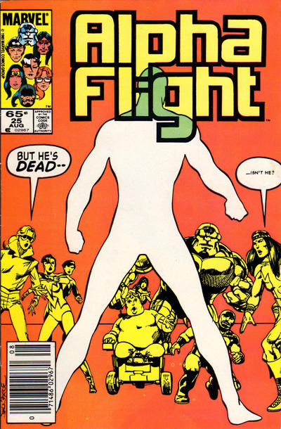 Cover for Alpha Flight (Marvel, 1983 series) #25 [Newsstand Edition]
