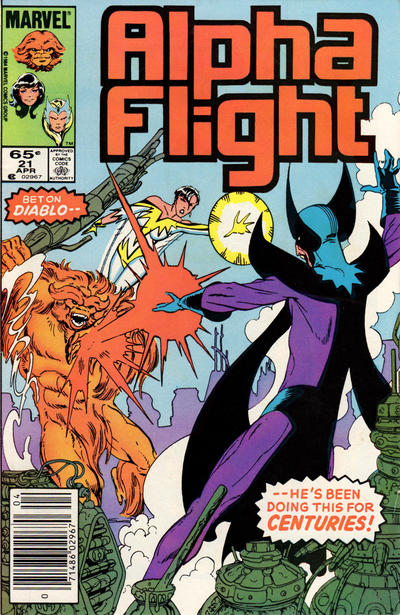 Cover for Alpha Flight (Marvel, 1983 series) #21 [Newsstand Edition]