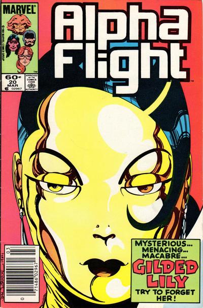 Cover for Alpha Flight (Marvel, 1983 series) #20 [Direct]