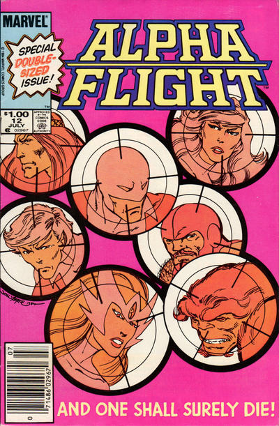 Cover for Alpha Flight (Marvel, 1983 series) #12 [Newsstand Edition]