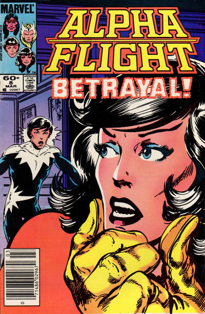 Cover for Alpha Flight (Marvel, 1983 series) #8 [Direct Edition]