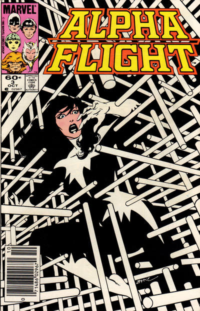 Cover for Alpha Flight (Marvel, 1983 series) #3 [Direct Edition]