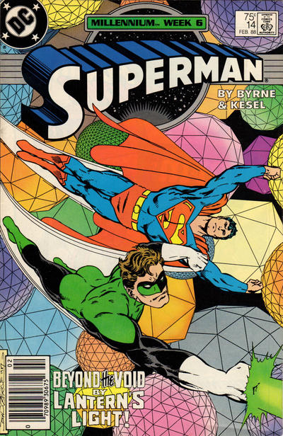 Cover for Superman (DC, 1987 series) #14 [Direct Edition]