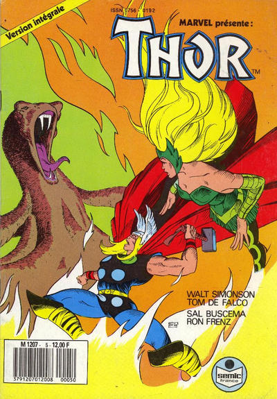 Cover for Thor (Semic S.A., 1989 series) #5