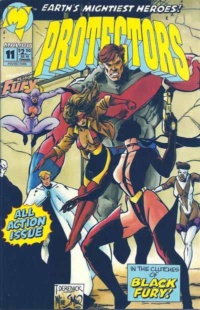 Cover for Protectors (Malibu, 1992 series) #11 [newsstand]