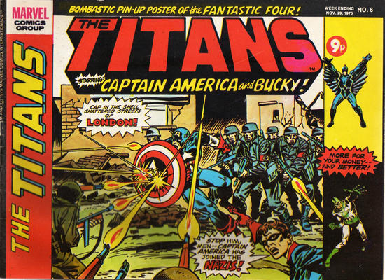 Cover for The Titans (Marvel UK, 1975 series) #6
