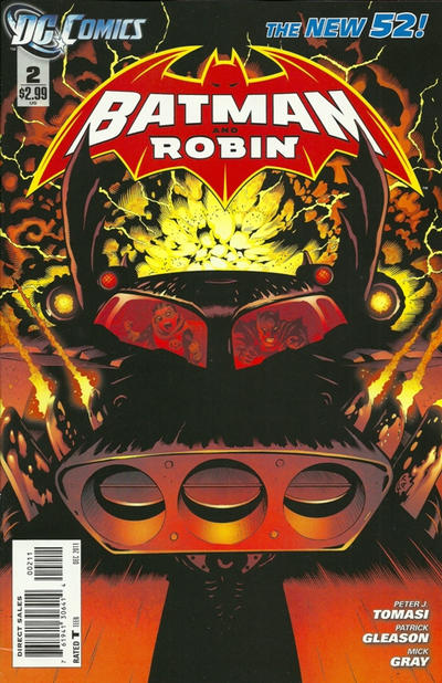 Cover for Batman and Robin (DC, 2011 series) #2