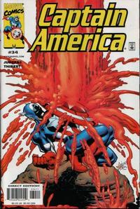 Cover for Captain America (Marvel, 1998 series) #34 [Direct Edition]