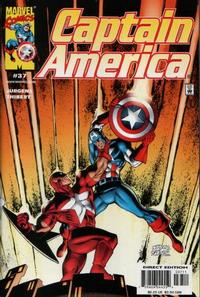 Cover Thumbnail for Captain America (Marvel, 1998 series) #37 [Direct Edition]
