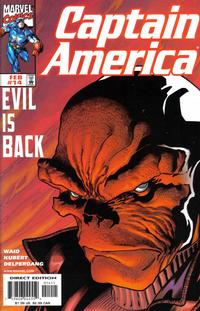 Cover Thumbnail for Captain America (Marvel, 1998 series) #14 [Direct Edition]