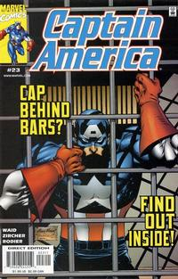 Cover Thumbnail for Captain America (Marvel, 1998 series) #23 [Direct Edition]
