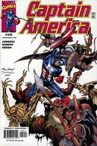 Cover Thumbnail for Captain America (Marvel, 1998 series) #28 [Direct Edition]