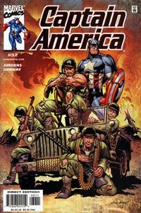 Cover Thumbnail for Captain America (Marvel, 1998 series) #32 [Direct Edition]