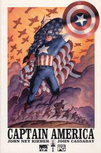 Cover Thumbnail for Captain America (Marvel, 2002 series) #1 [Direct Edition]