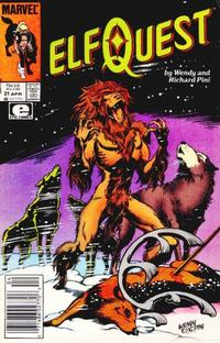 Cover Thumbnail for ElfQuest (Marvel, 1985 series) #21 [Newsstand]