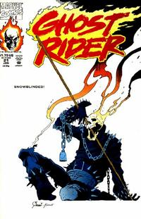 Cover Thumbnail for Ghost Rider (Marvel, 1990 series) #21 [Direct Edition]