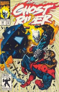 Cover Thumbnail for Ghost Rider (Marvel, 1990 series) #24 [Direct Edition]