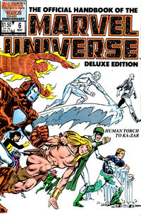 Cover Thumbnail for The Official Handbook of the Marvel Universe (Marvel, 1985 series) #6 [Direct]