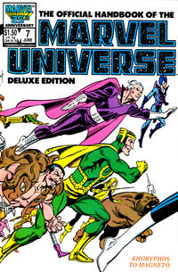 Cover Thumbnail for The Official Handbook of the Marvel Universe (Marvel, 1985 series) #7 [Direct]