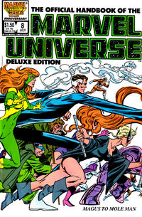 Cover Thumbnail for The Official Handbook of the Marvel Universe (Marvel, 1985 series) #8 [Direct]