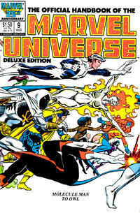 Cover Thumbnail for The Official Handbook of the Marvel Universe (Marvel, 1985 series) #9 [Direct]