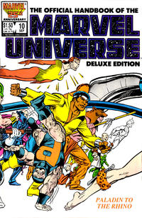 Cover Thumbnail for The Official Handbook of the Marvel Universe (Marvel, 1985 series) #10 [Direct]