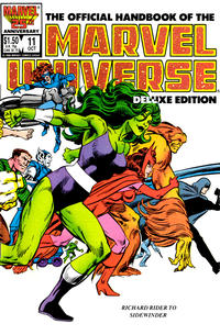 Cover Thumbnail for The Official Handbook of the Marvel Universe (Marvel, 1985 series) #11 [Direct]