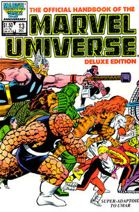 Cover Thumbnail for The Official Handbook of the Marvel Universe (Marvel, 1985 series) #13 [Direct]