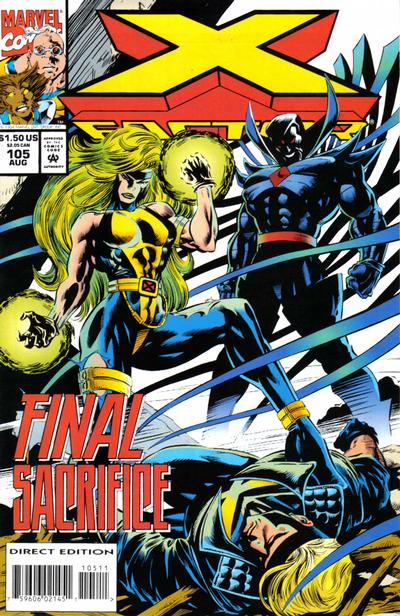 Cover for X-Factor (Marvel, 1986 series) #105 [Direct Edition]