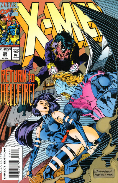 Cover for X-Men (Marvel, 1991 series) #29 [Direct Edition]