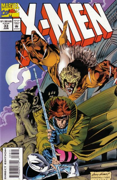 Cover for X-Men (Marvel, 1991 series) #33 [Direct Edition]