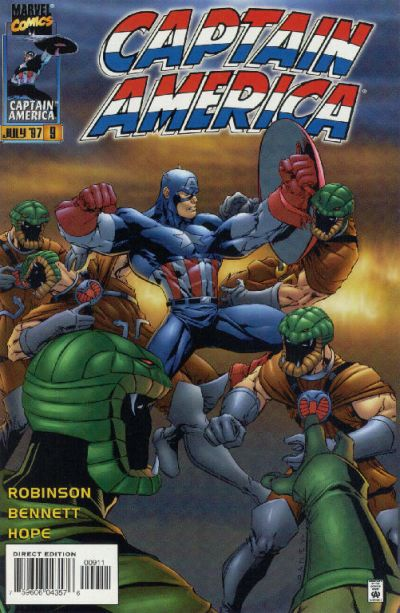 Cover for Captain America (Marvel, 1996 series) #9 [Newsstand Edition]