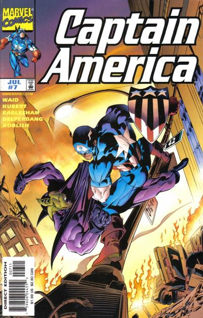 Cover for Captain America (Marvel, 1998 series) #7 [Direct Edition]