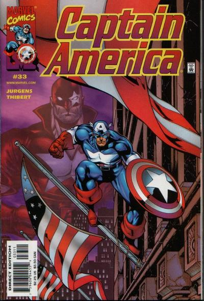 Cover for Captain America (Marvel, 1998 series) #33 [Direct Edition]