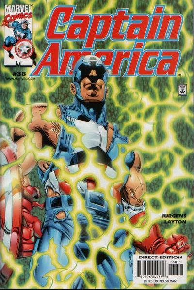 Cover for Captain America (Marvel, 1998 series) #38 [Direct Edition]