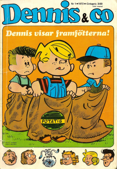 Cover for Dennis (Semic, 1969 series) #1/1972
