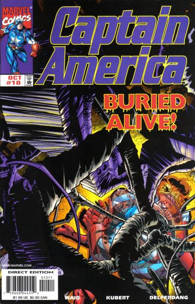 Cover for Captain America (Marvel, 1998 series) #10 [Direct Edition]