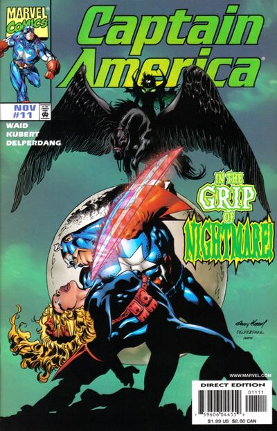 Cover for Captain America (Marvel, 1998 series) #11 [Direct Edition]