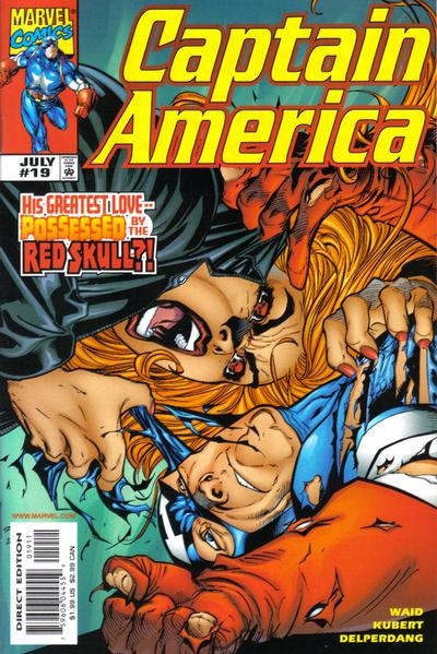 Cover for Captain America (Marvel, 1998 series) #19 [Direct Edition]