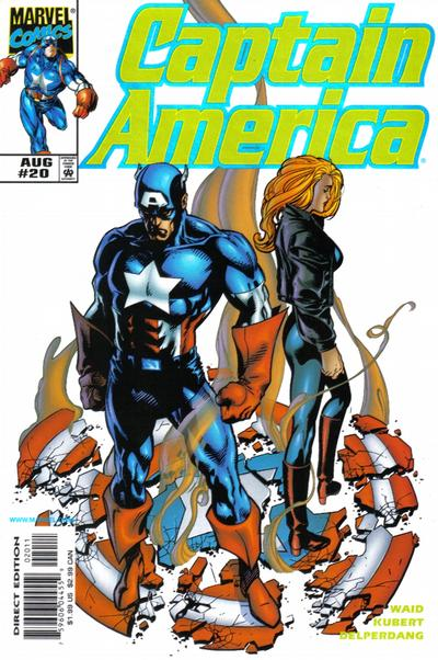 Cover for Captain America (Marvel, 1998 series) #20 [Direct Edition]