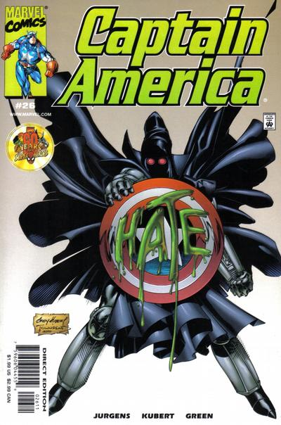 Cover for Captain America (Marvel, 1998 series) #26 [Direct Edition]