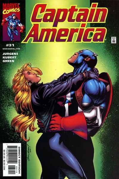 Cover for Captain America (Marvel, 1998 series) #31 [Direct Edition]