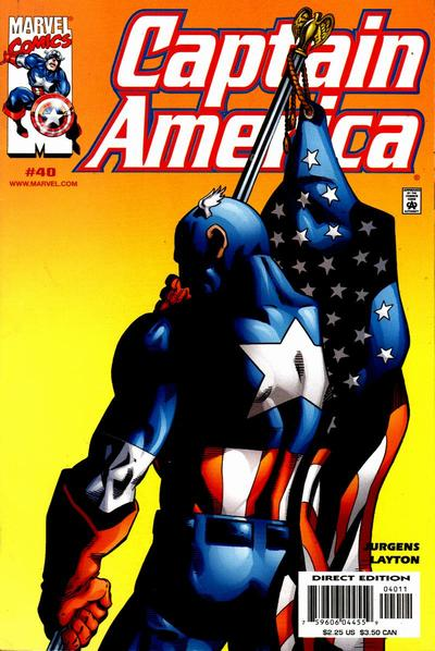 Cover for Captain America (Marvel, 1998 series) #40 [Direct Edition]