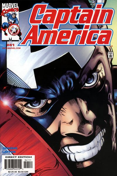 Cover for Captain America (Marvel, 1998 series) #41 [Direct Edition]