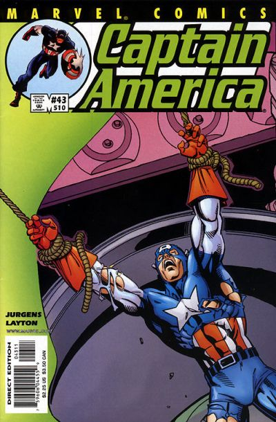 Cover for Captain America (Marvel, 1998 series) #43 (510) [Direct Edition]
