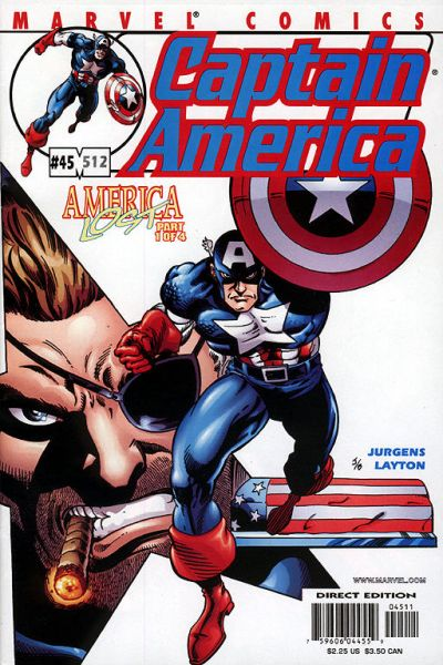 Cover for Captain America (Marvel, 1998 series) #45 (512) [Direct Edition]