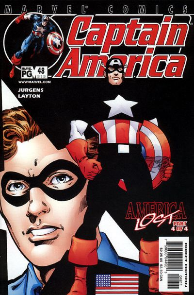 Cover for Captain America (Marvel, 1998 series) #48 (515) [Direct Edition]